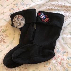 Hunter Boot Socks kids XL Spaceship Manmoon NIB